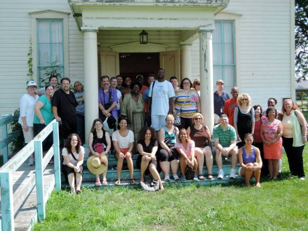 Seminar participants from Canada and the United States visit the Buxton SchoolHouse in Southwestern Ontario